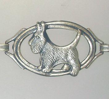 Antique English STERLING Silver SCOTTIE DOG Bracelet Collar-b-sscot