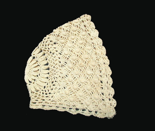 Antique FRENCH 3 6 Months Mo Vintage BABY BONNET Lace Handmade Infant-bonbg