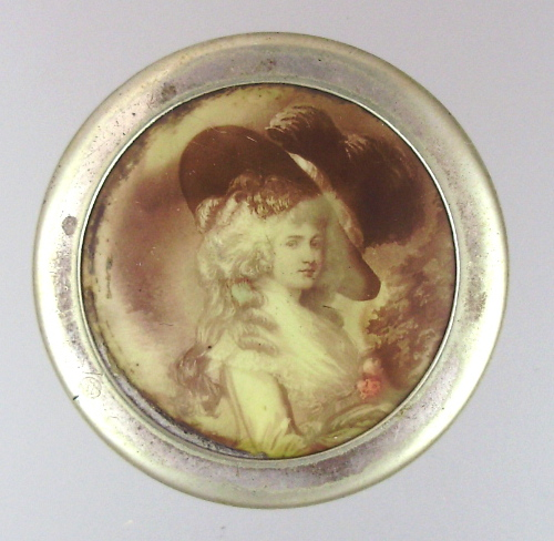 Antique C1900 FRENCH Portrait Rouge Jewel Box Cask MARIE ANTOINETTE-bxmarie