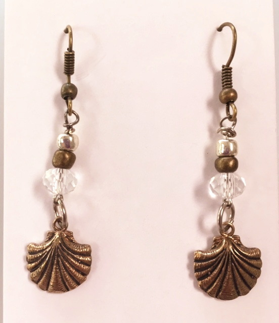 Bronze SEASHELL Earrings -e-shell