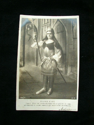 LOT of 9 FRENCH Antique Saint Joan of ARC Postcards PARIS-jacards9series
