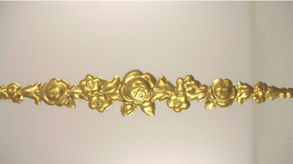 Antique French Brass Floral ROSE Ormolu  Appliques-o-lrg