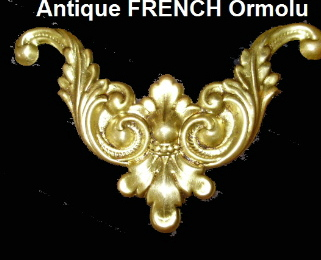 OLD Antique C 19th FRENCH Gilt BRASS ORMOLU Empire-ooacc