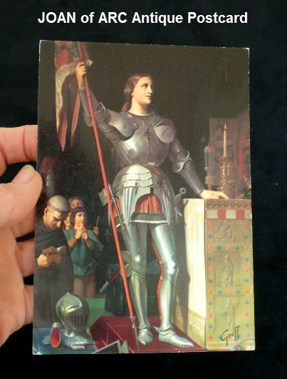 French Antique Saint ST Joan of ARC Color Postcard of w-pcgreff