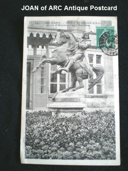 French Antique Saint St Joan of ARC Postcard ORLEANS-pchorse