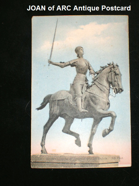 French Antique Saint ST Joan of ARC Color Postcard -pcreimsa
