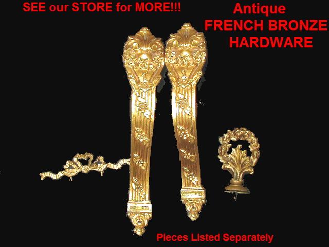 PAIR PR of 2 Vintage FRENCH Curtain Tiebacks Flower OLD-prbrose